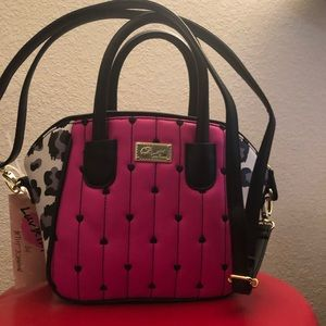 Satchel Betsy Johnson hot pink small Bag